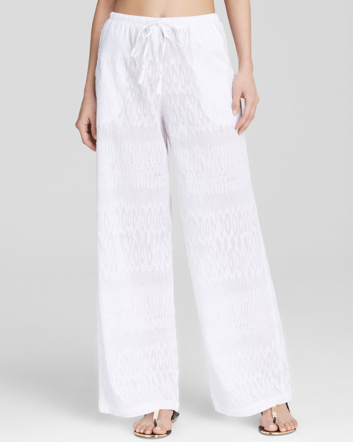 Tommy bahama Beach Cover Up Pants in White | Lyst