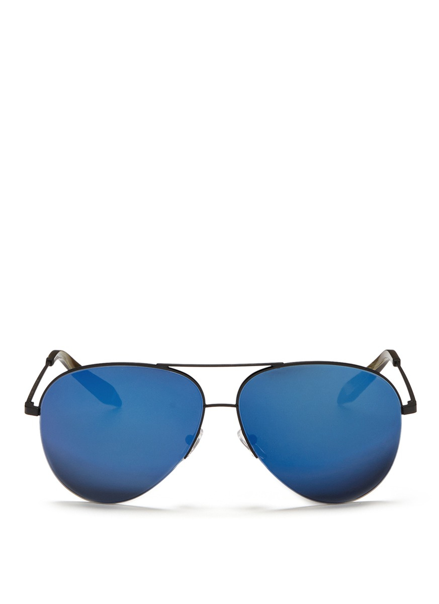 mirrored aviator sunglasses l7py  Gallery
