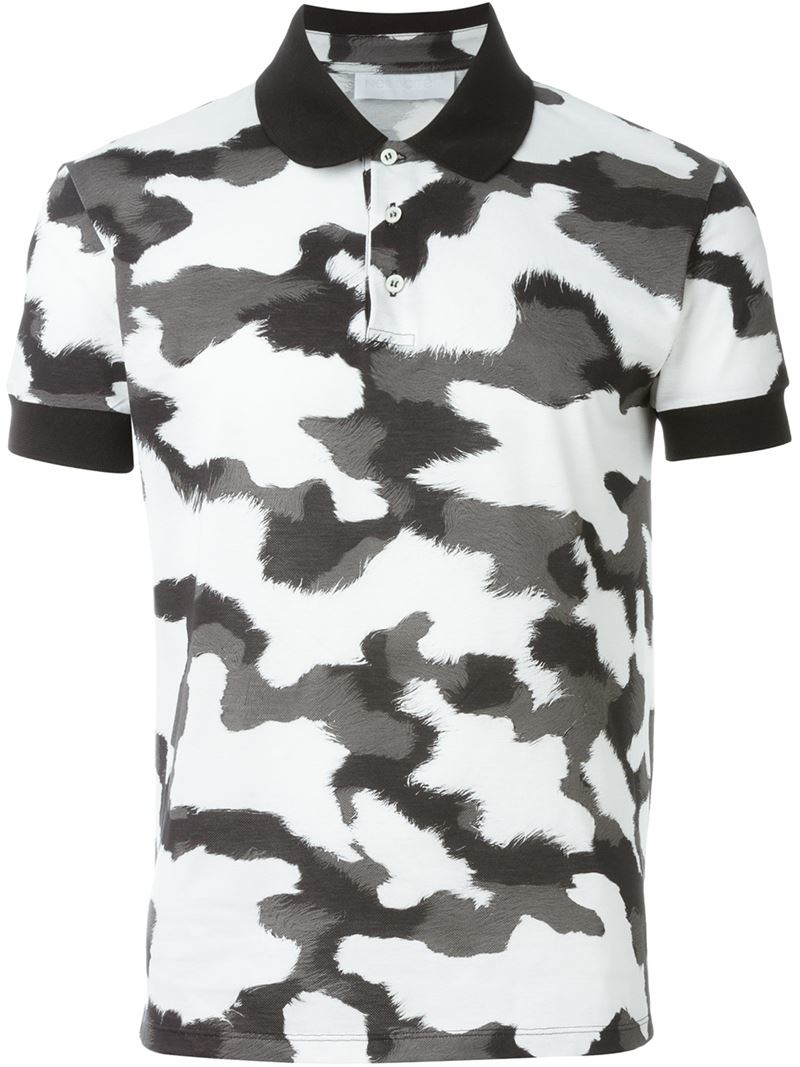 954ce2a5 Neil Barrett Camouflage Polo Shirt in Black for Men - Lyst