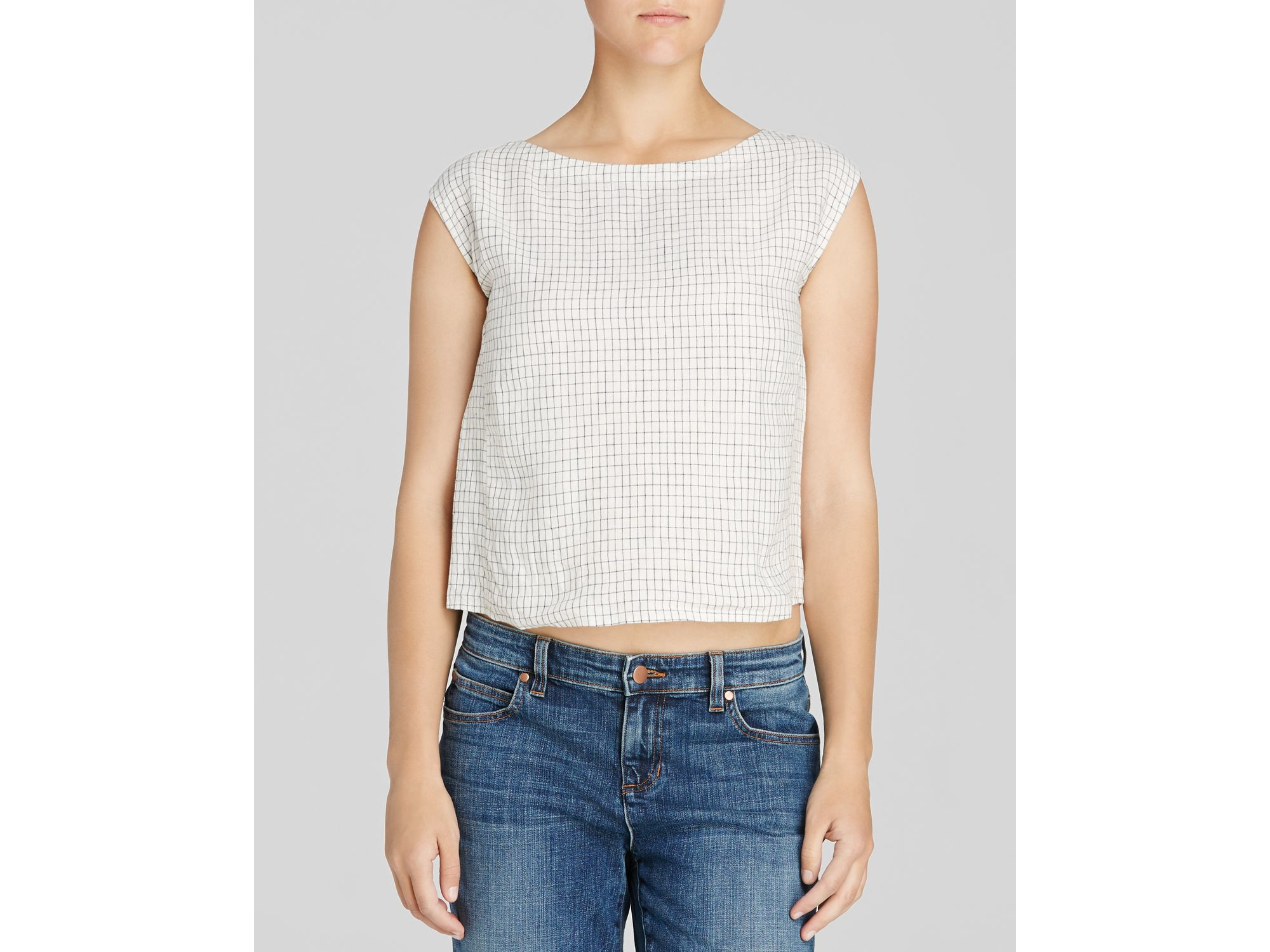 3b7d34d4f8 Eileen Fisher The Fisher Project Boat Neck Linen Top in White - Lyst