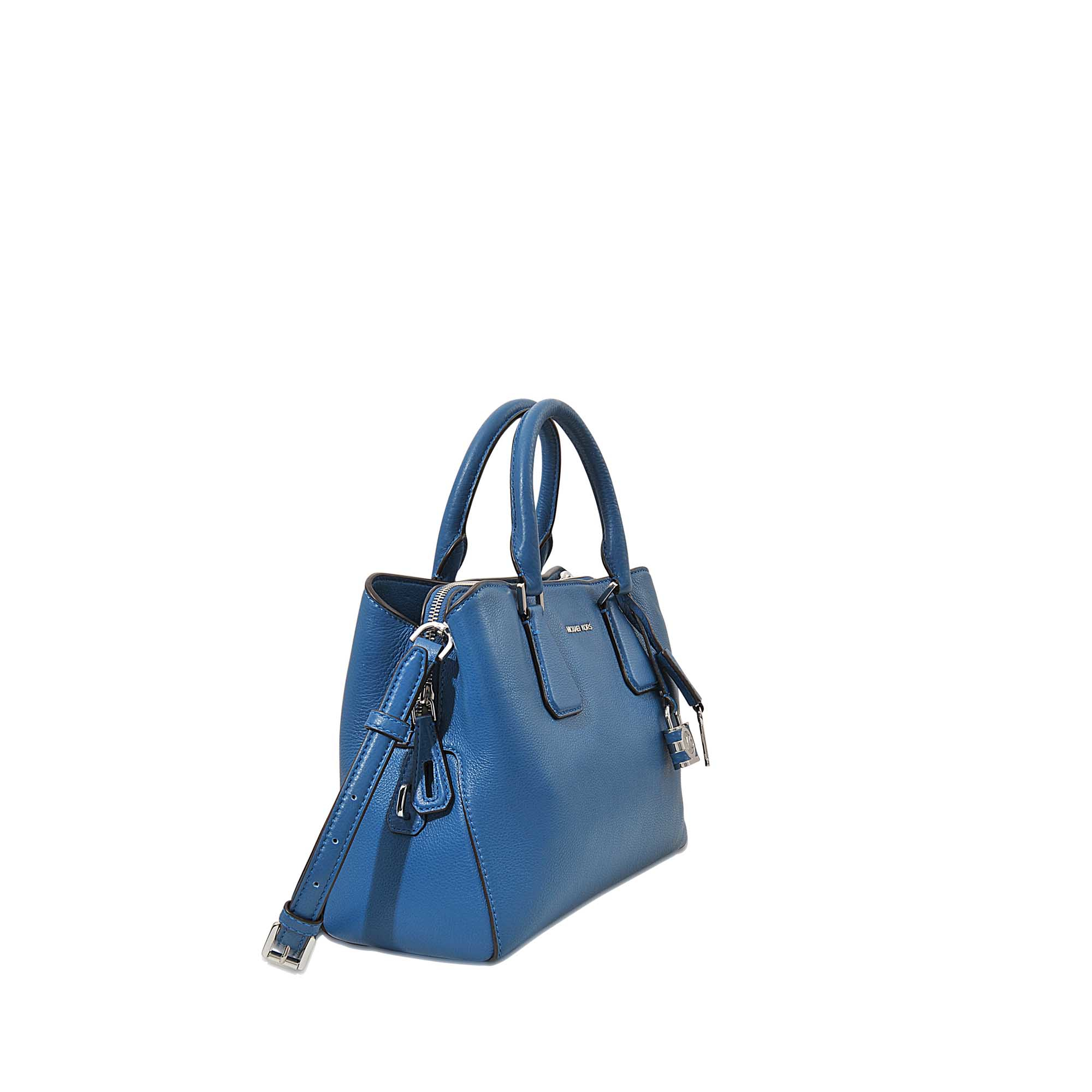 8dfde7703b ... Large Leather Satchel Lyst Michael michael kors Camille Medium Satchel  in Blue Lyst ...
