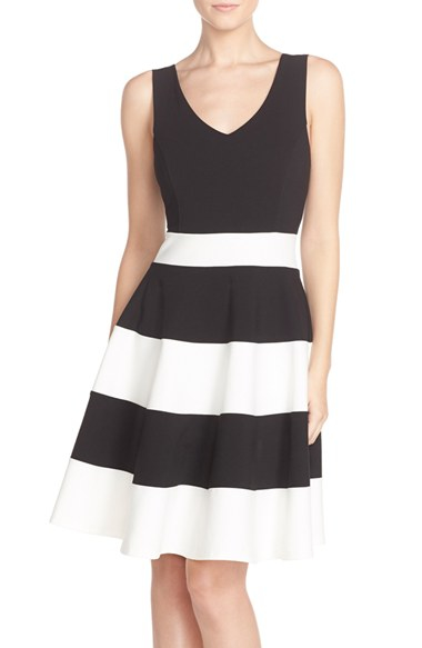 Felicity Amp Coco Sleeveless Fit Amp Flare Dress In Black Lyst