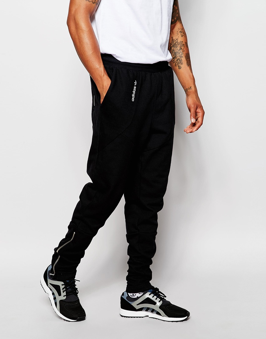 9e587782c adidas Originals Tapered Joggers in Black for Men - Lyst