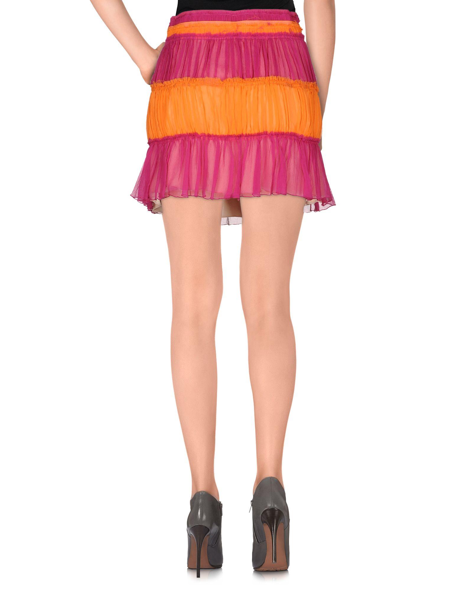 John galliano Mini Skirt in Purple
