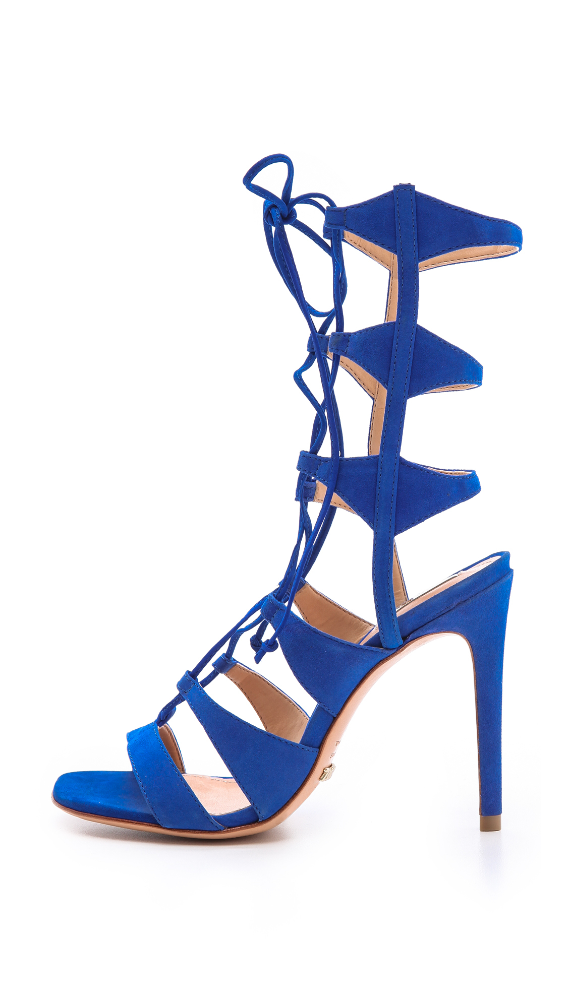 Lyst Schutz Erlene Lace Up Sandals In Blue