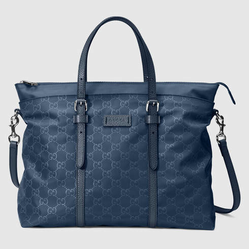 dadfd409c2c6 Lyst - Gucci Nylon Guccissima Light Tote in Blue