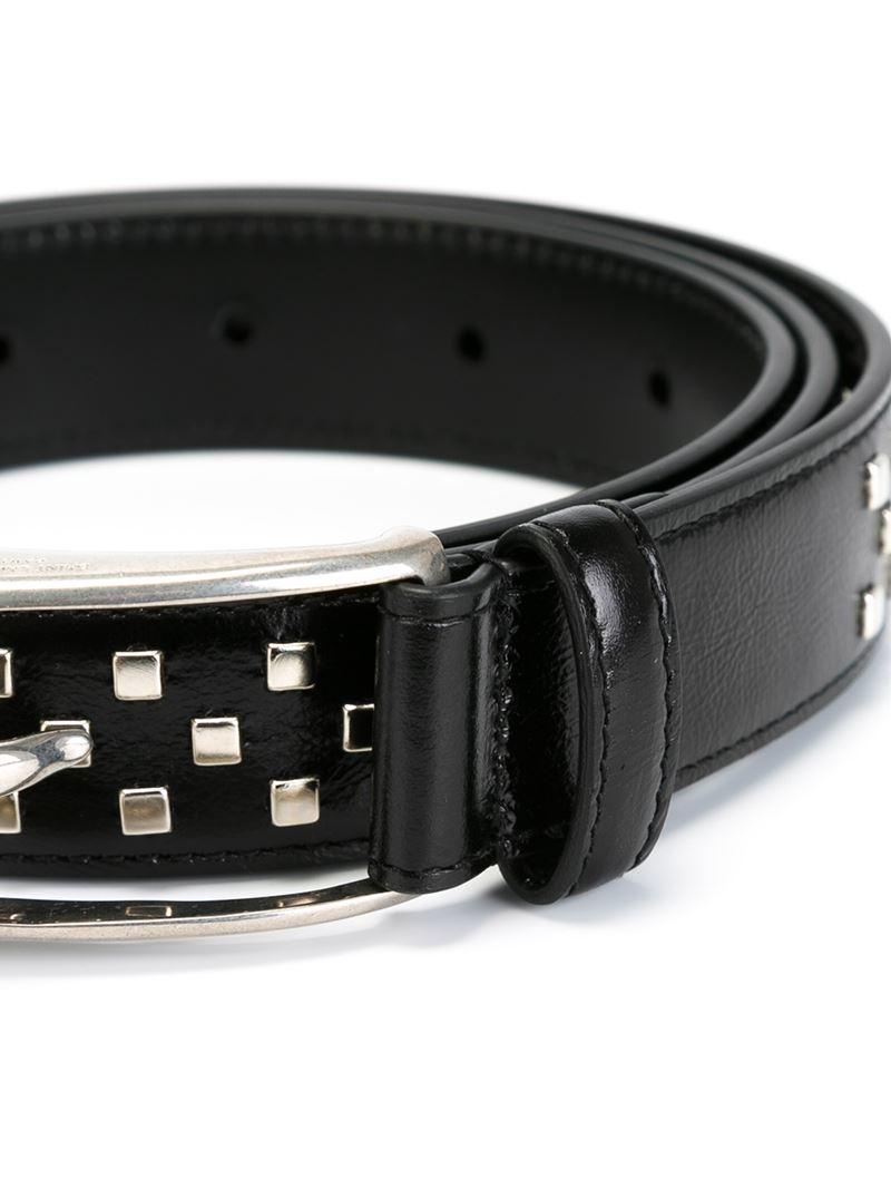 Saint Laurent Studded Belt In Black For Men Lyst