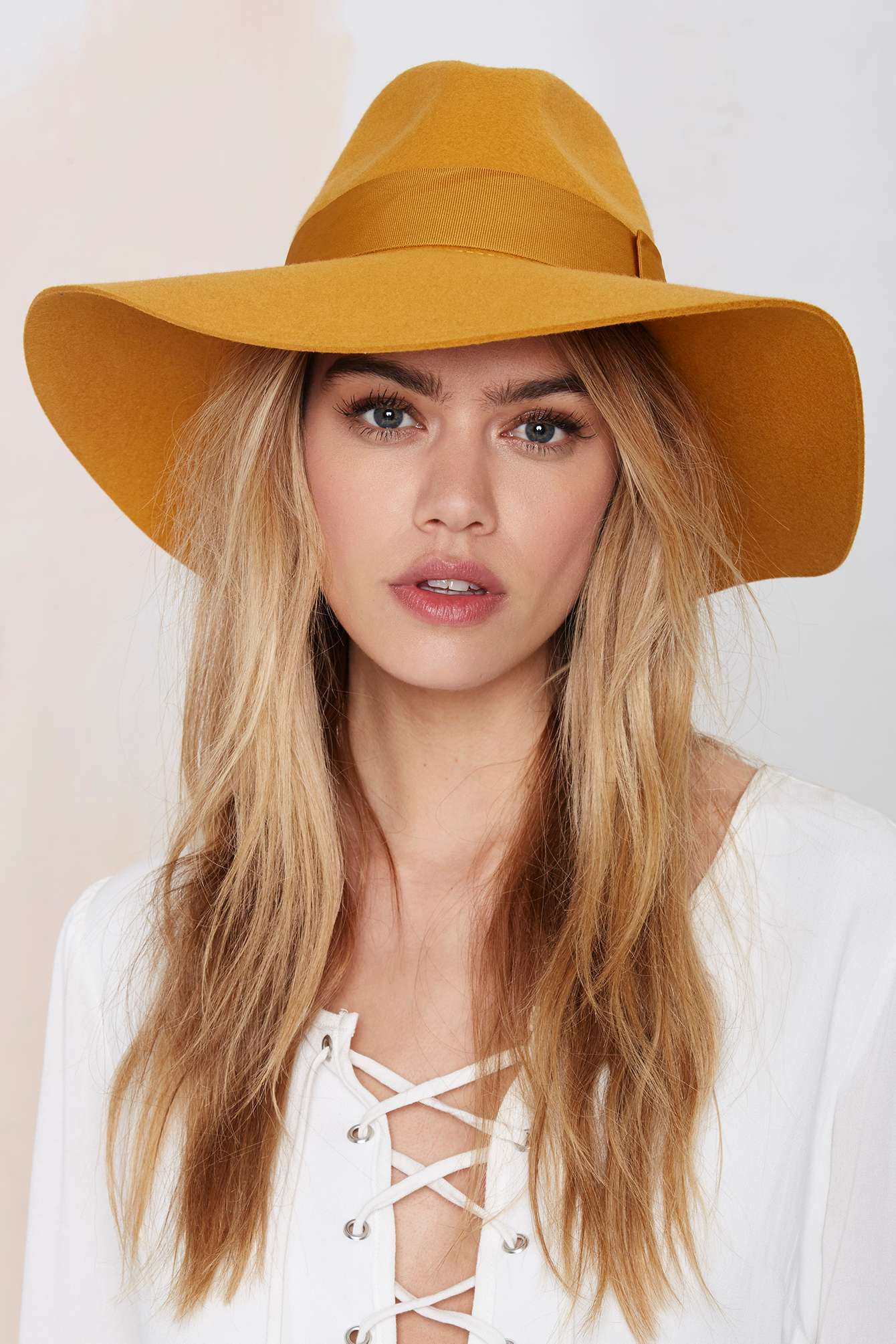 be1f4e5a7d1b5 Nasty Gal Brixton Piper Wool Hat - Mustard in Yellow - Lyst