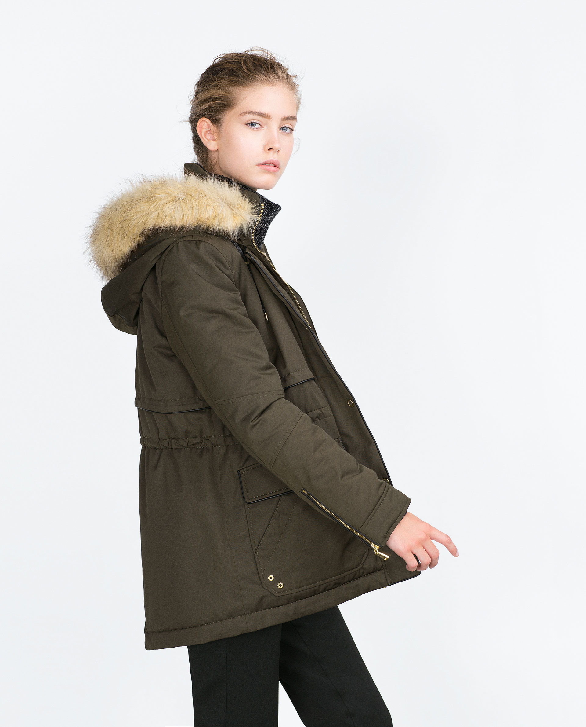 Zara Short Quilted Jacket in Natural   Lyst