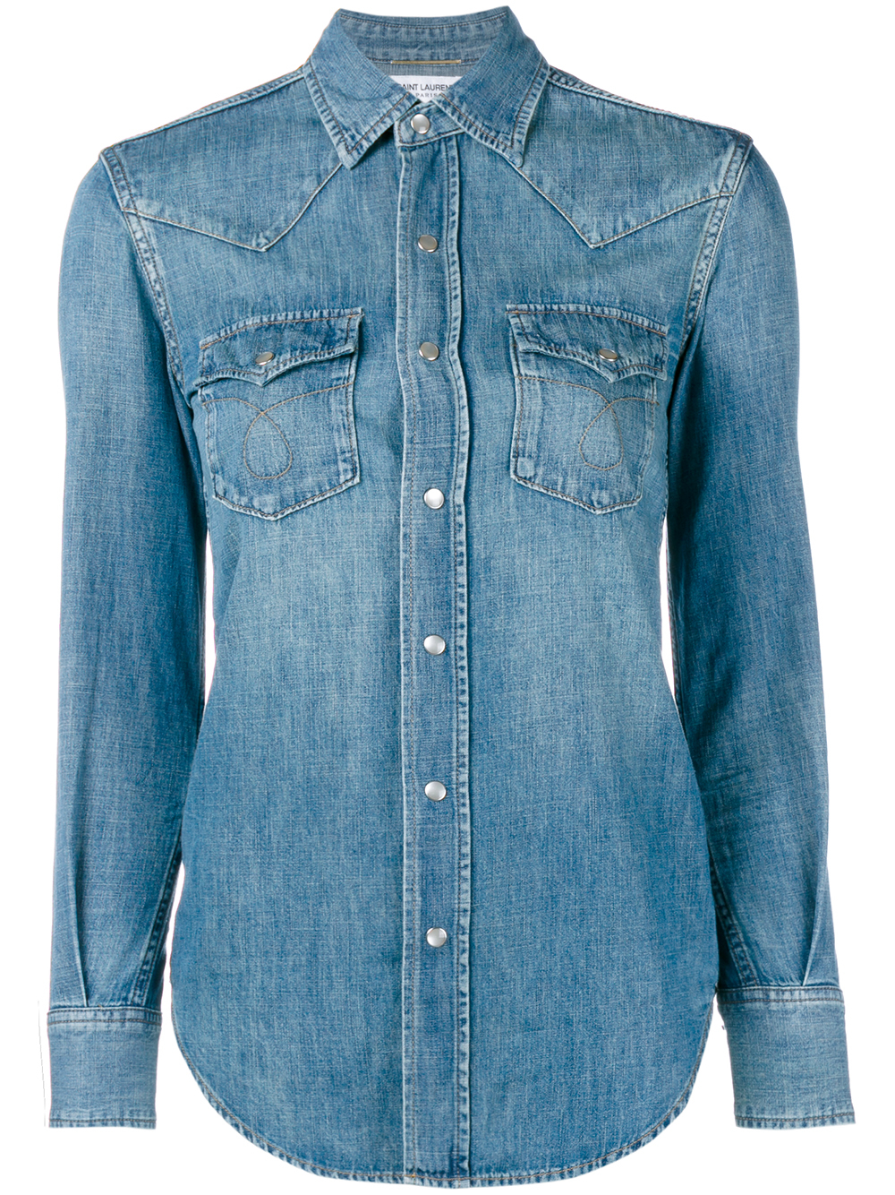 d87a4592c6 Saint Laurent Classic Denim Shirt in Blue - Lyst