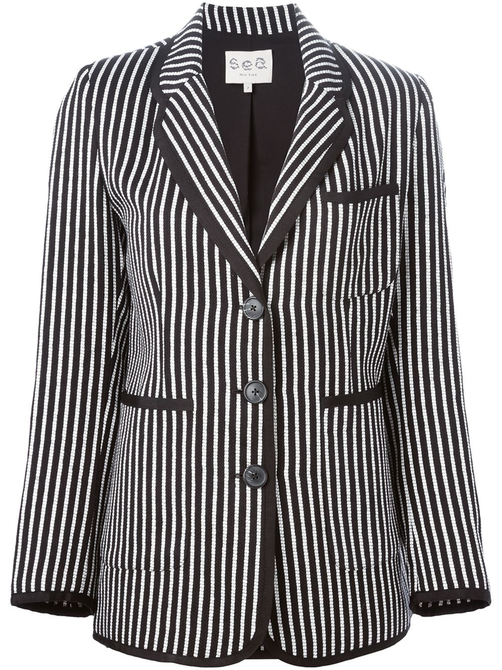Sea Striped Blazer Jacket In Black Lyst
