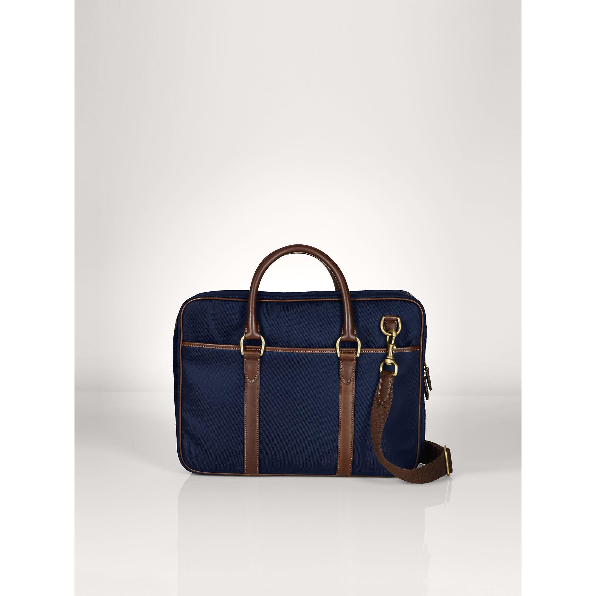 b9b2436d70a8 ... discount lyst ralph lauren nylon commuter bag in blue for men 17b6e  0e45b