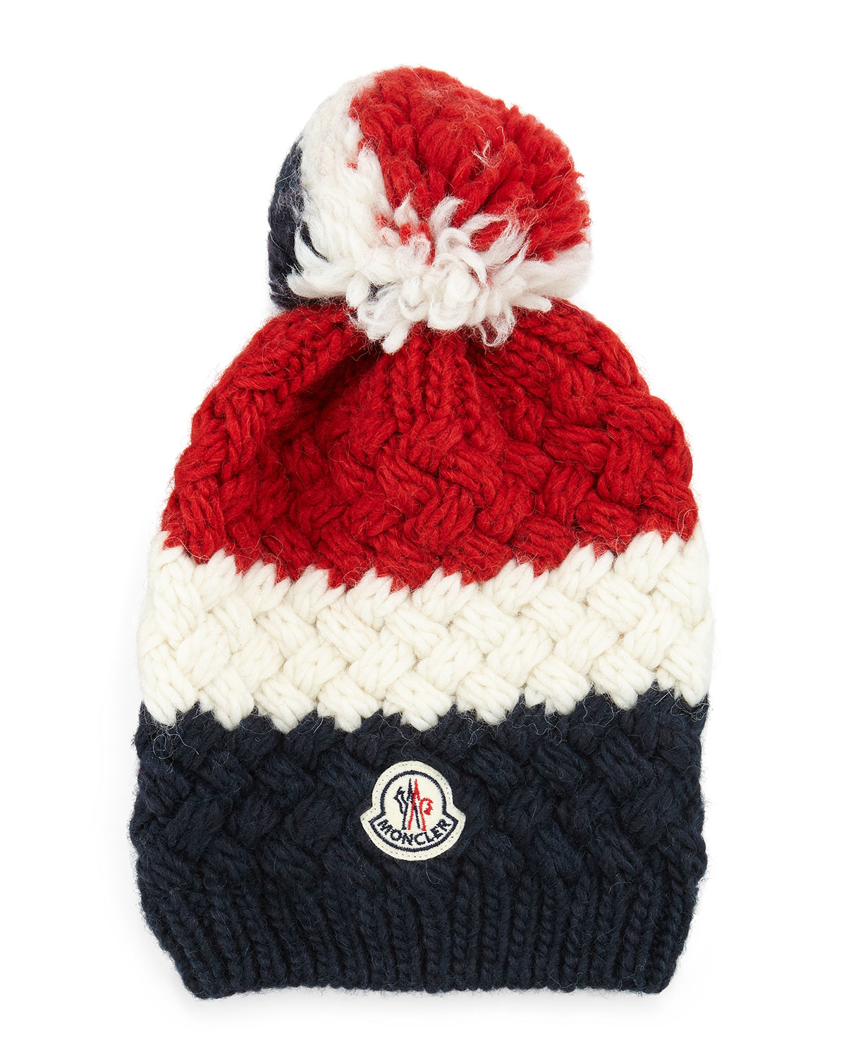 d974a58d2a0 Lyst - Moncler Cashmere Chunky-knit Pom-pom Hat in Blue for Men