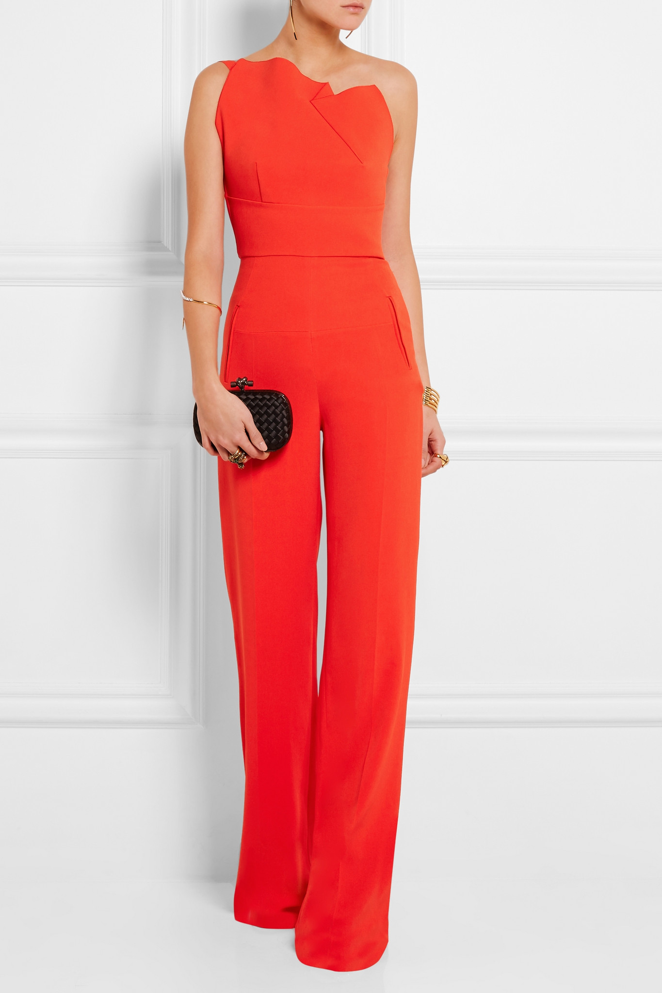 b5ba585b238 Lyst - Roland Mouret Colston Stretch-crepe Jumpsuit in Red