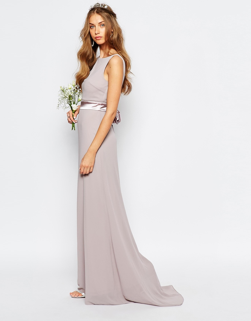 Tfnc tall wedding sateen bow back maxi party evening dress for Maxi dress at wedding