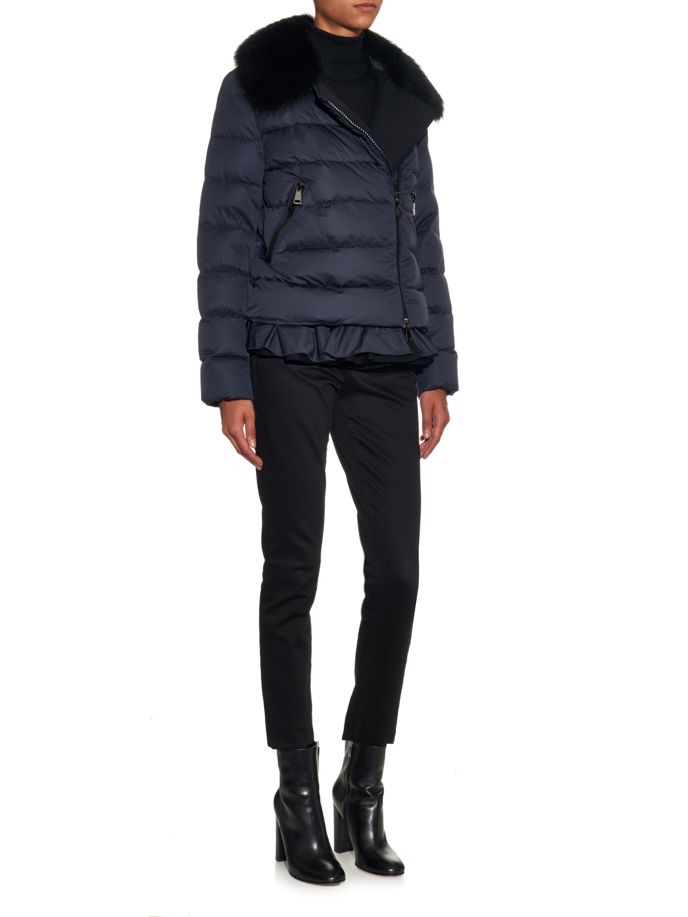 Lyst Moncler Nesea Quilted Down Jacket In Blue