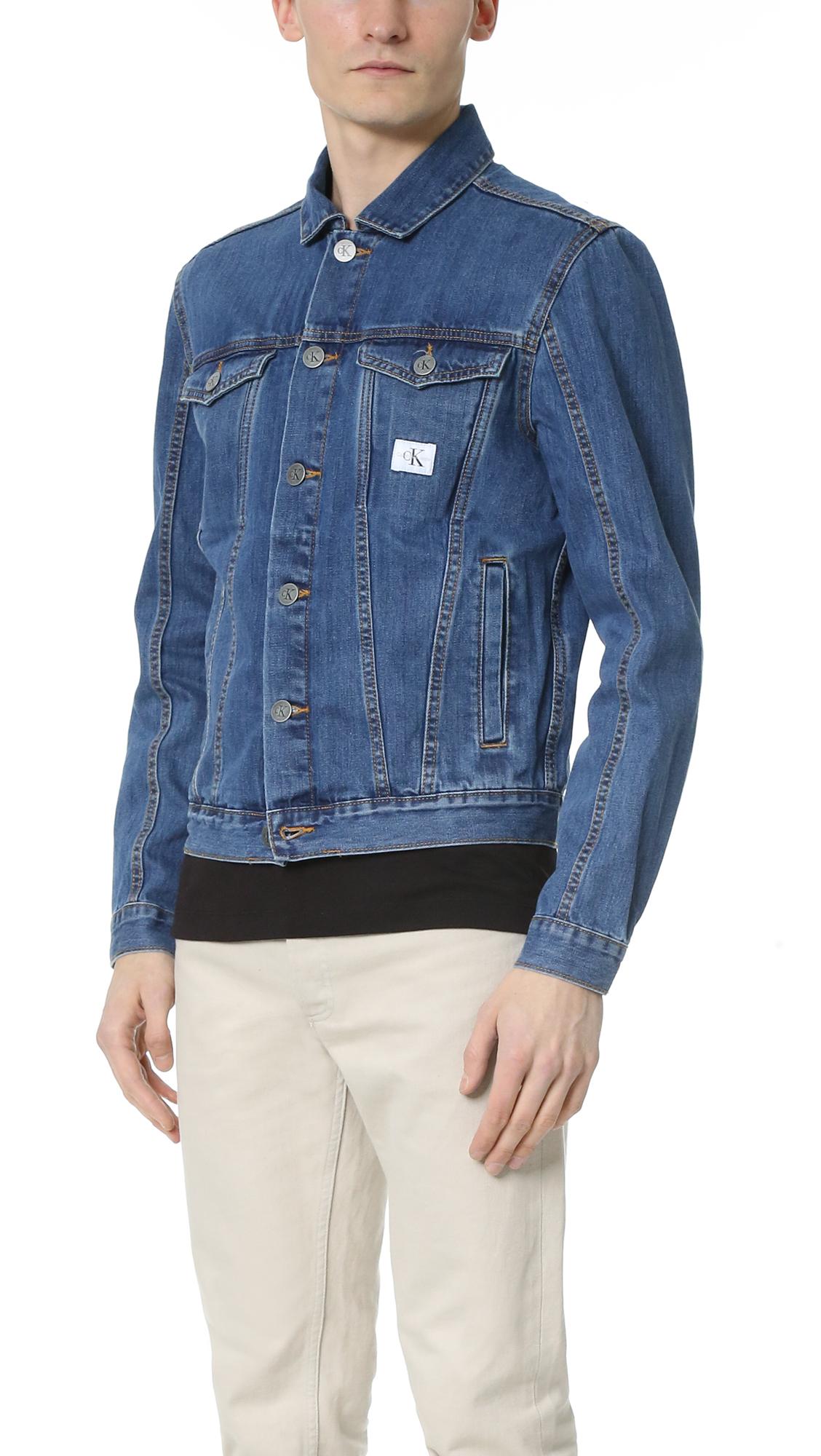 Lyst - Calvin Klein Jeans Trucker Jacket in Blue for Men