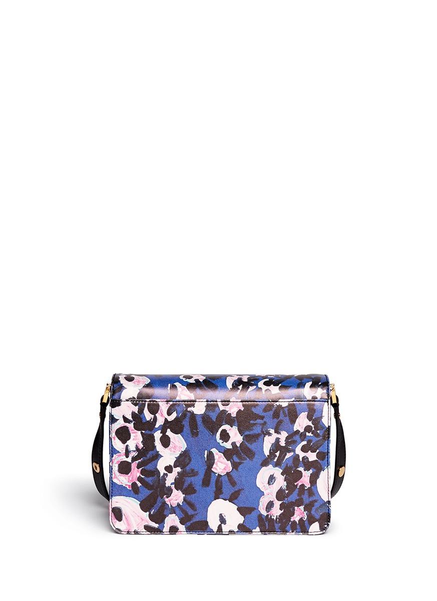 Marni Floral Print Crossbody Bag In Blue | Lyst
