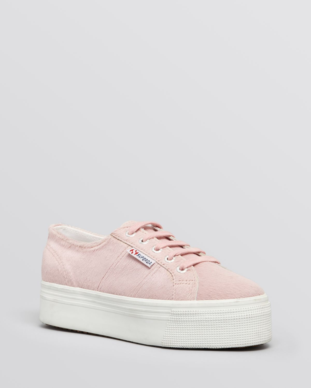 low top flatform sneakers - Pink & Purple Superga aPeSUszv4u