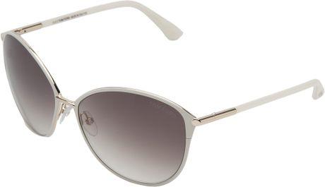 tom ford penelope sunglasses in white lyst. Black Bedroom Furniture Sets. Home Design Ideas