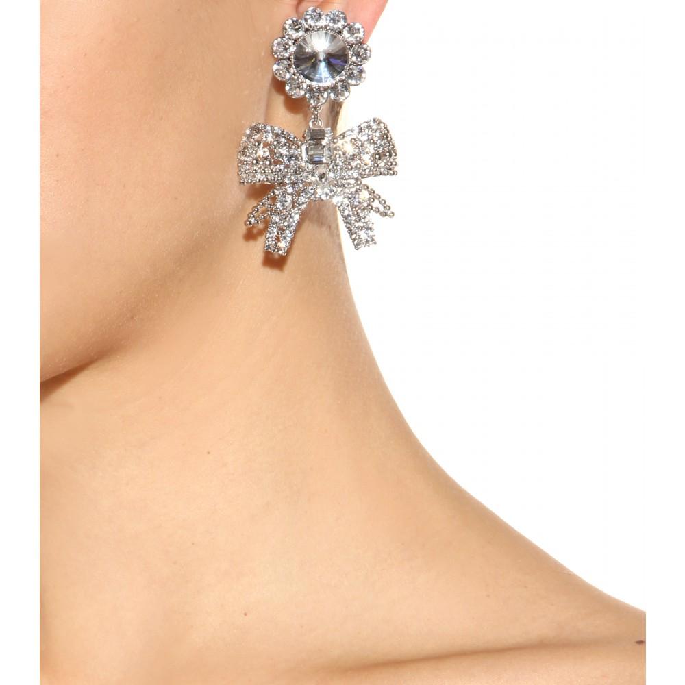 Miu Miu Crystal-embellished sterling-silver earrings uy0vkA9wt