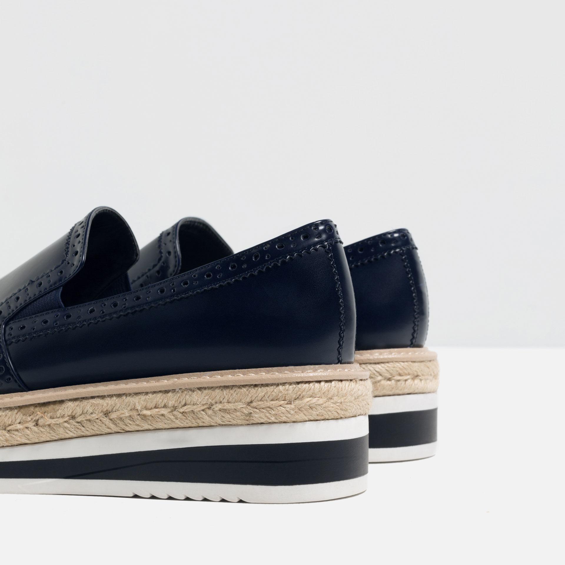 Zara Flat Platform Shoes In Blue For Men Lyst