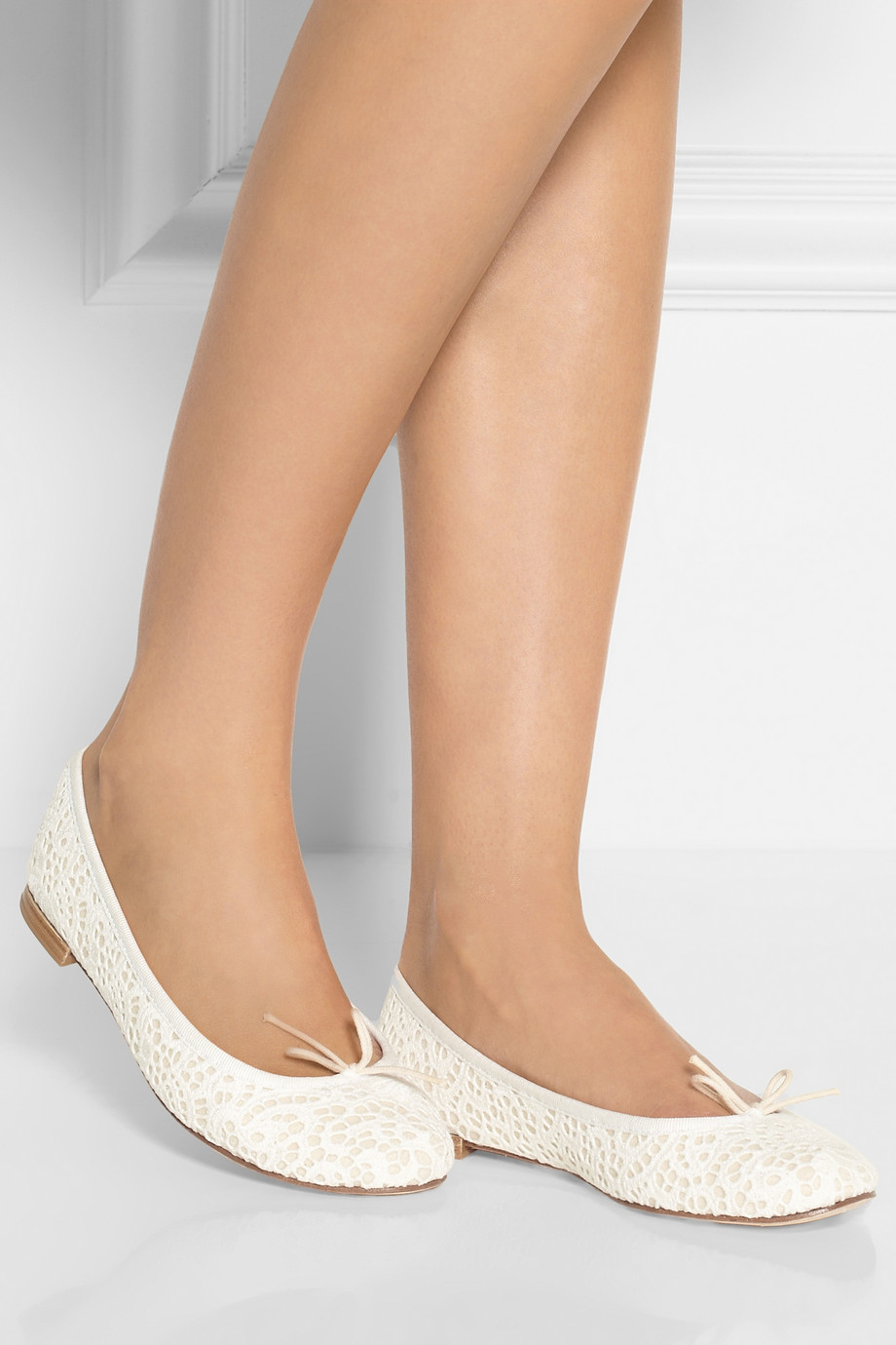 Wedding Table White Flats repetto the cendrillon crocheted lace ballet flats in white lyst gallery