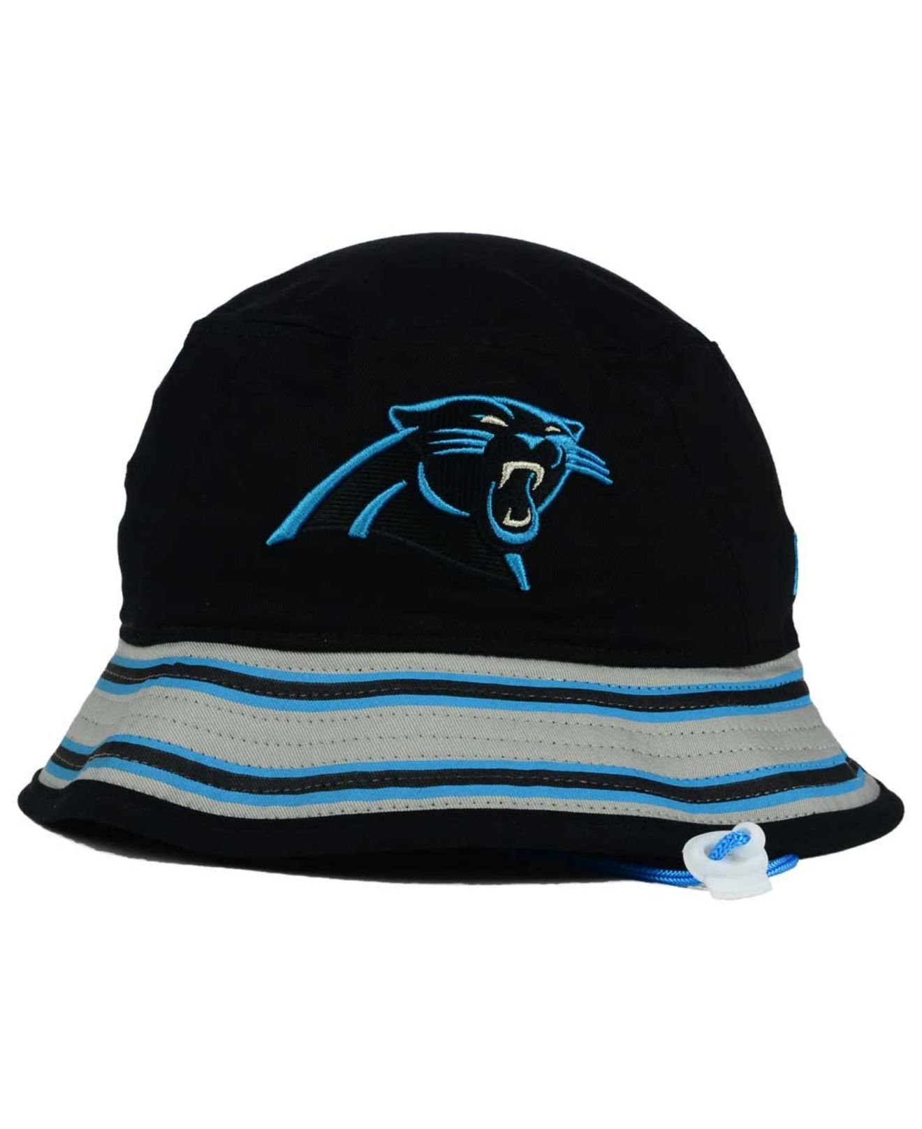 4e92a974ffd05 ... greece lyst ktz carolina panthers team stripe bucket hat in blue for  men 4bd6c 0a275