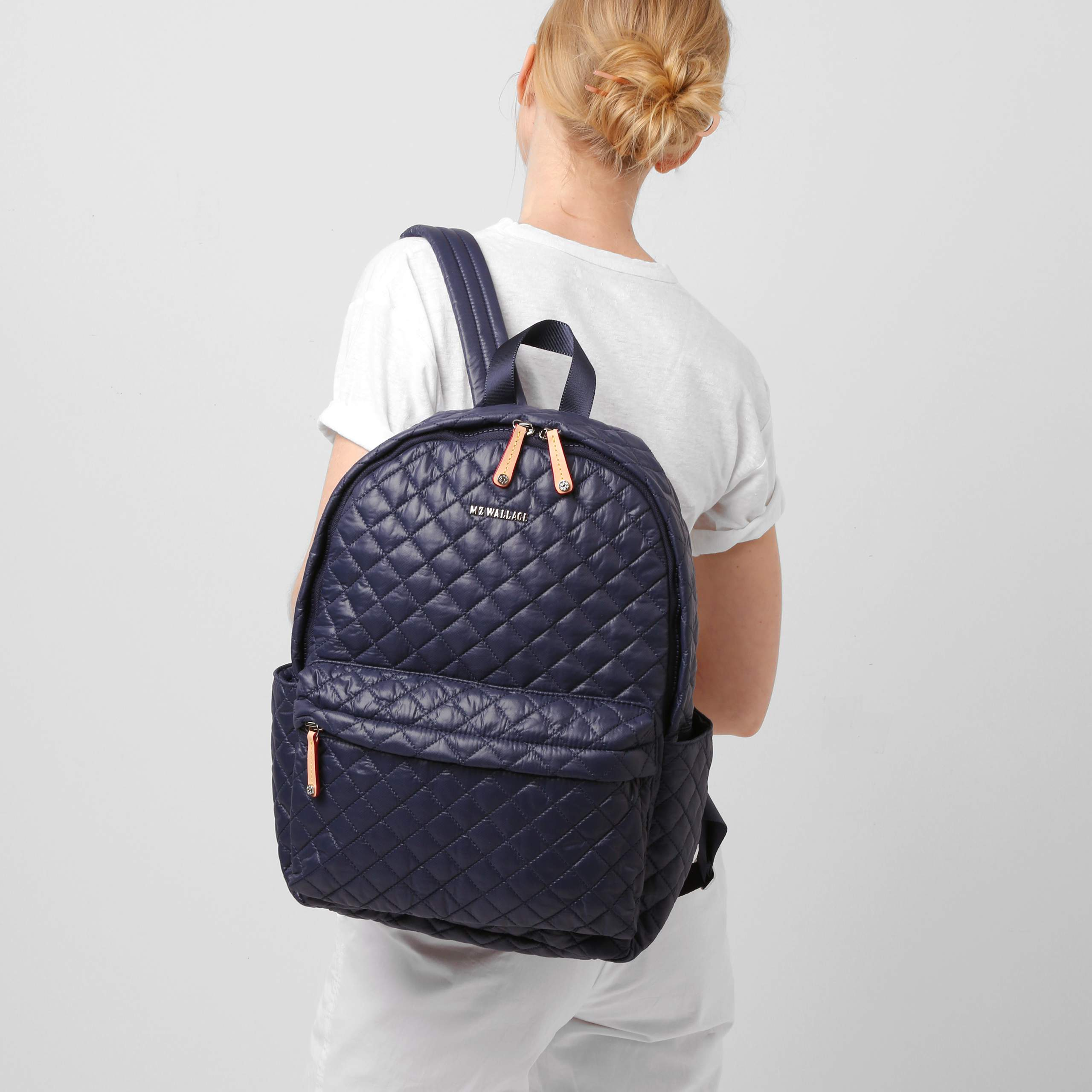 97f8a74fb3 Lyst - MZ Wallace Metro Backpack Navy Oxford in Blue