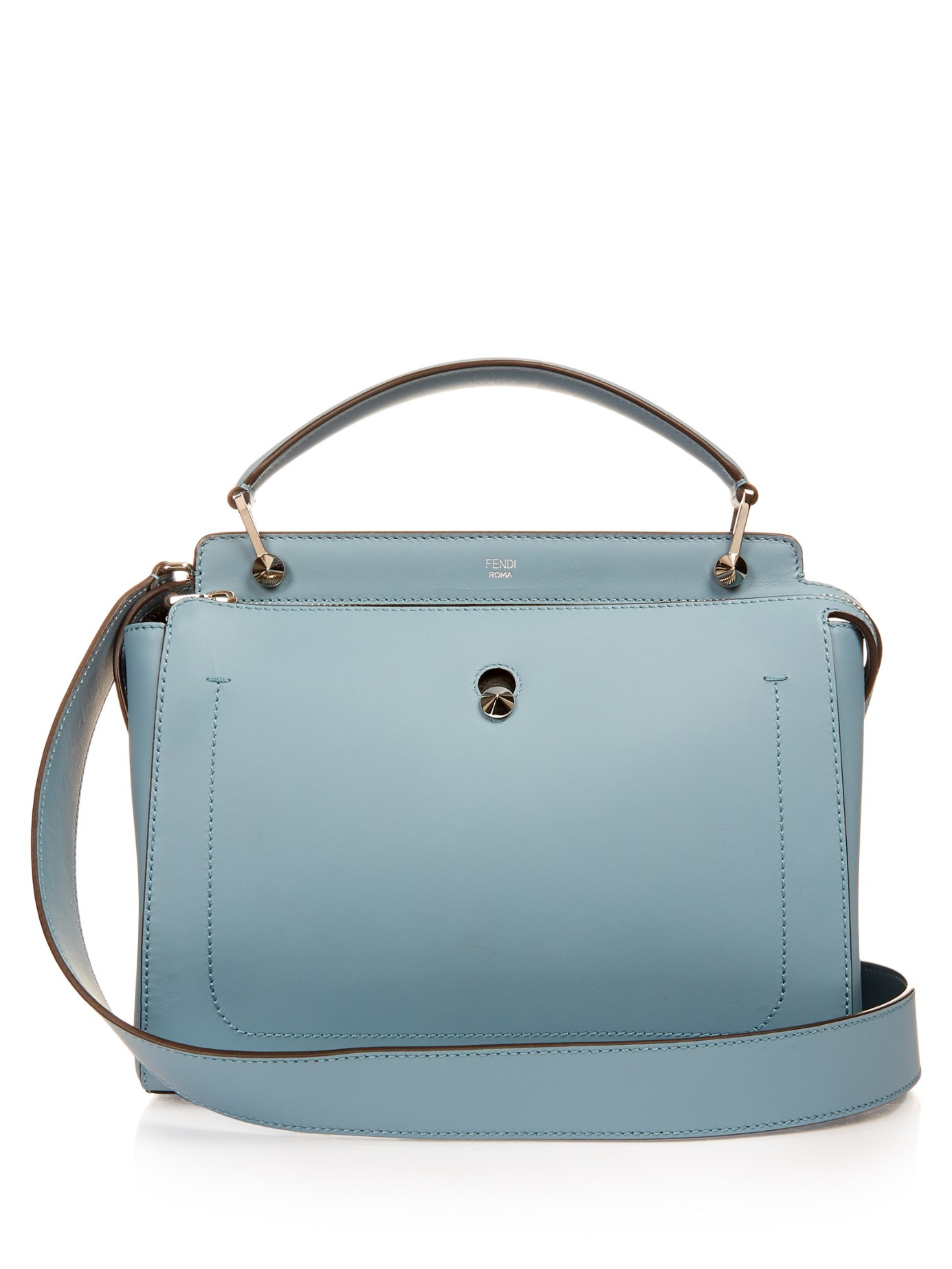 bfdf4cae3a4b Lyst - Fendi Dotcom Leather Bag in Blue
