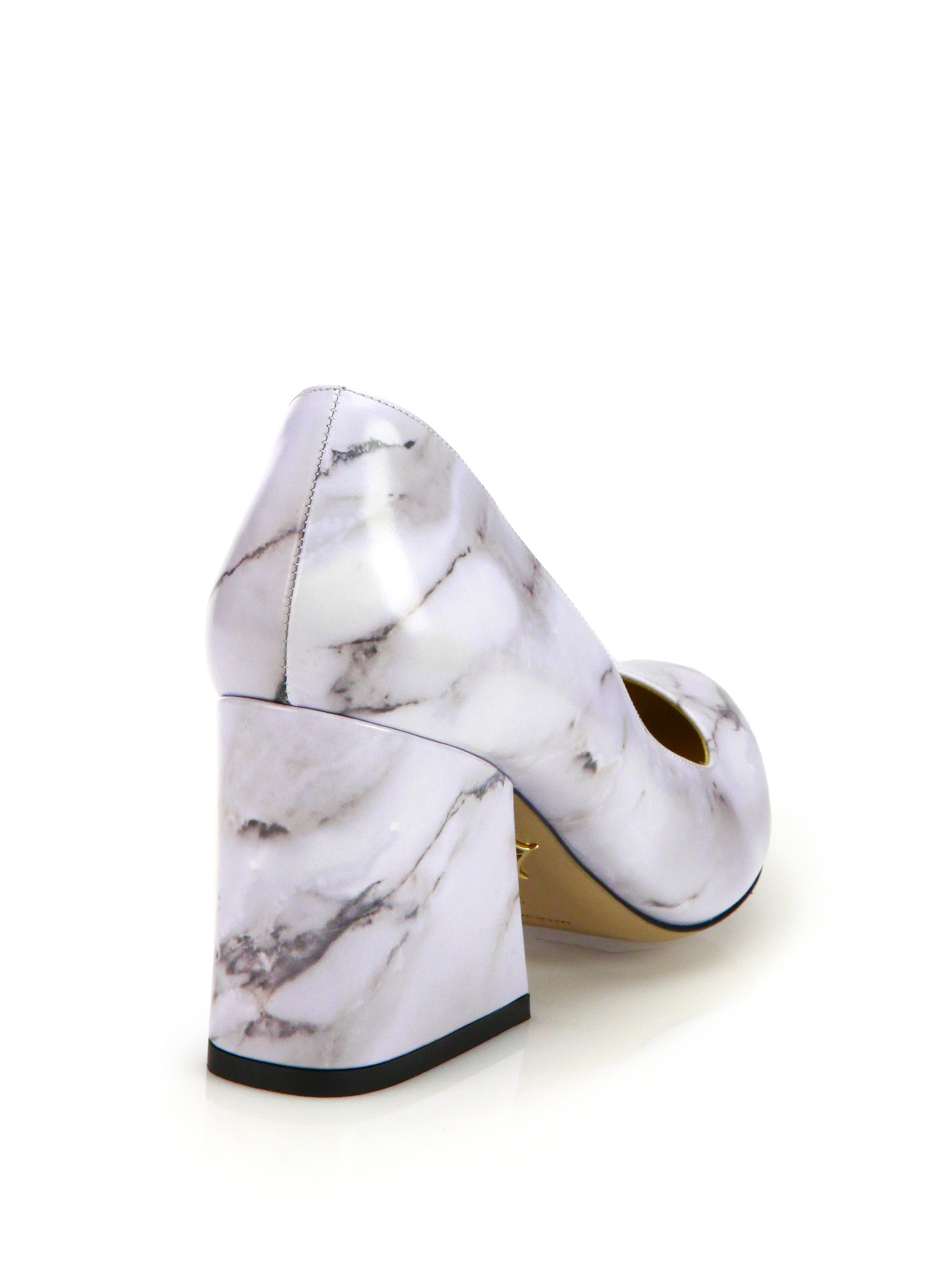 Lyst Charlotte Olympia Vendome Marble Print Point Toe
