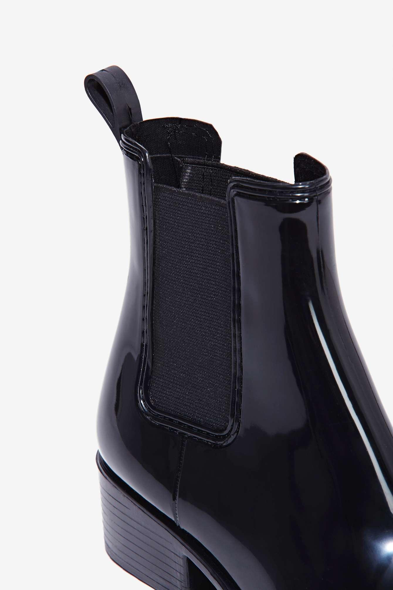 683e68deb05c Lyst - Jeffrey Campbell Stormy Chelsea Rain Boot in Black