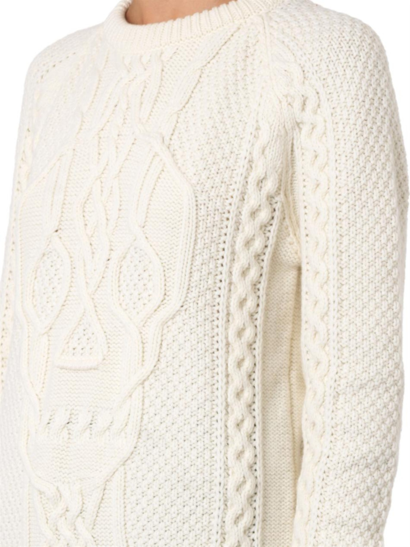 Lyst - Alexander Mcqueen Skull Cable-Knit Sweater in Natural
