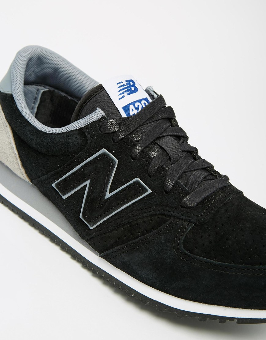 new balance 420 womens black and white mesh