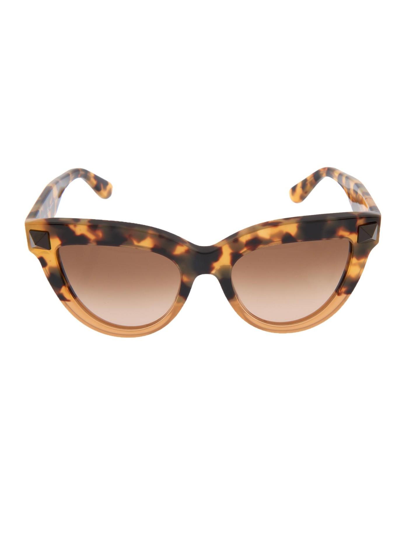 Valentino Cat-Eye Frame Sunglasses in Brown Lyst