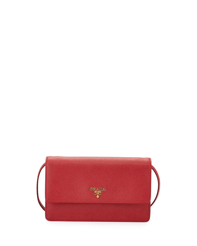 green prada bags - Prada Saffiano Mini Cross-Body Bag in Red | Lyst