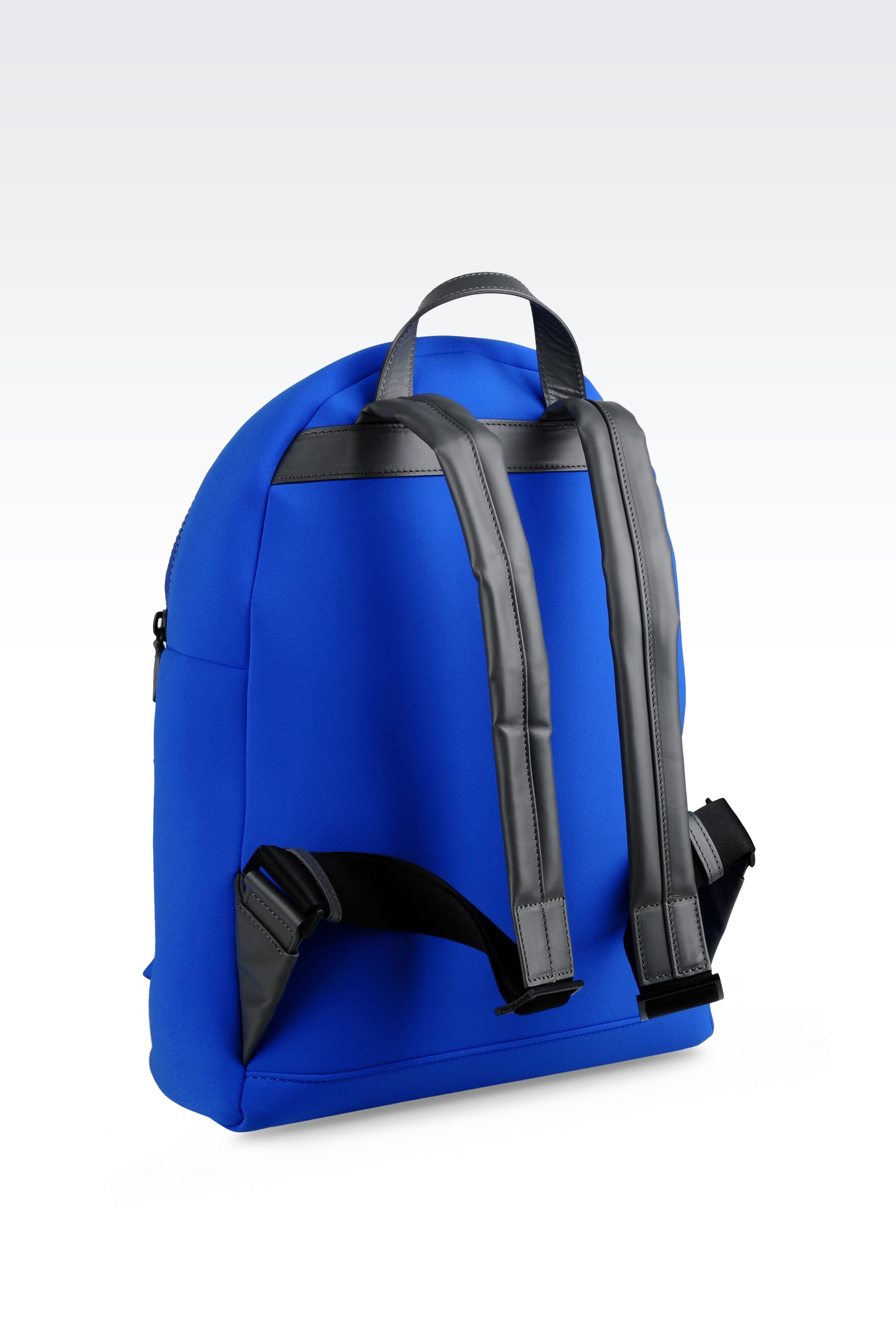 e0c076177f2e Lyst - Emporio Armani Runway Backpack In Neoprene in Blue