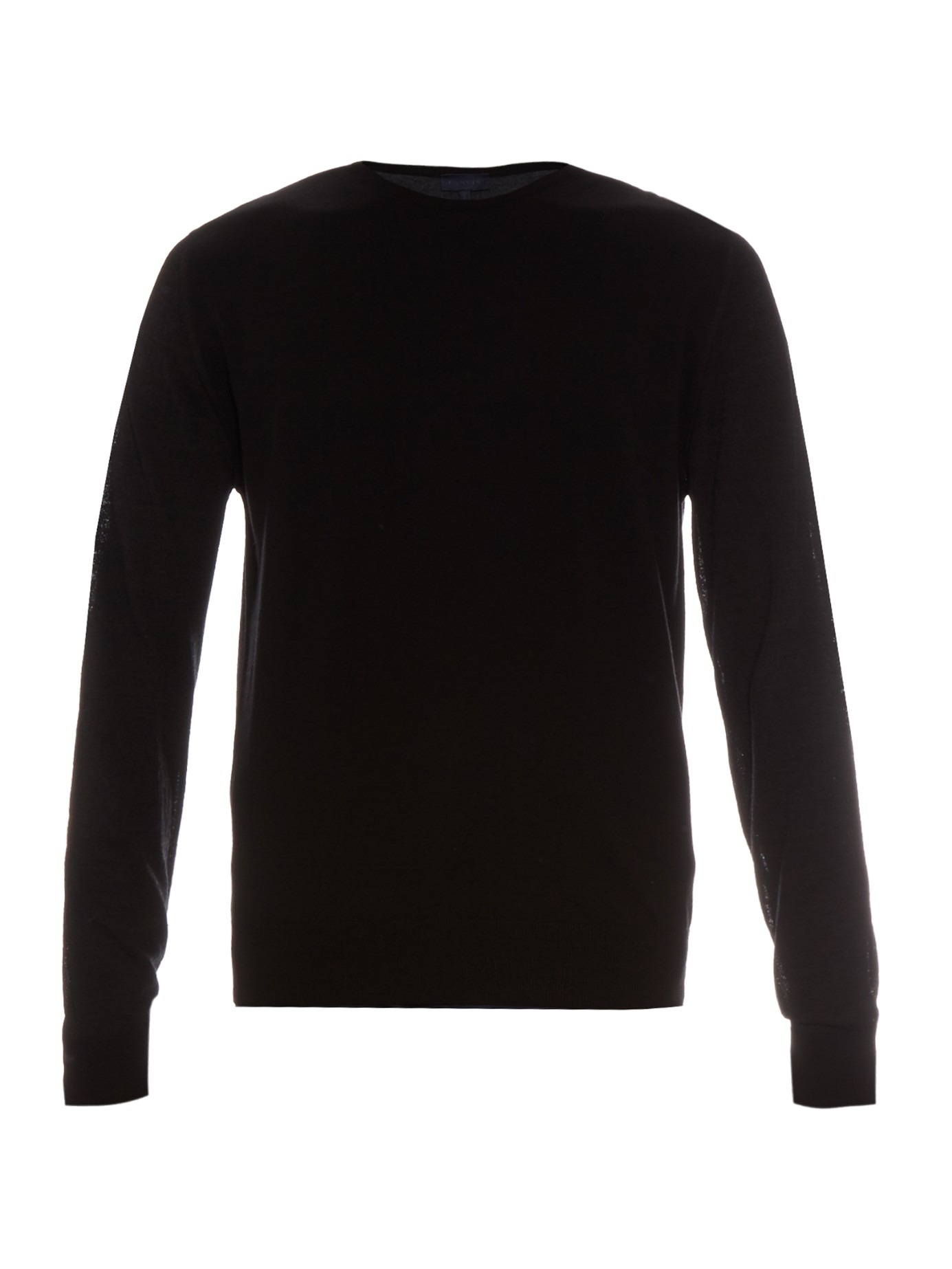 Lanvin Tri-colour Lightweight Sweater in Black for Men | Lyst