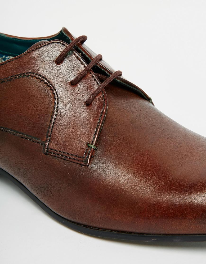 cb9adfe87c29d8 Lyst Ted Baker Leam Leather Derby Shoes In Brown For Men