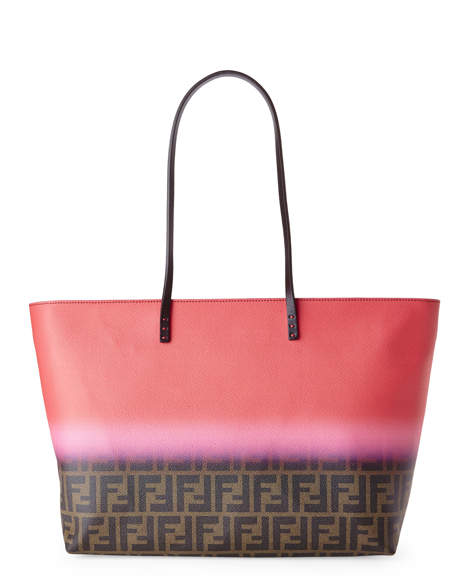Lyst - Fendi Zucca Ombrã© Large Roll Tote in Red 44dca90b479f3
