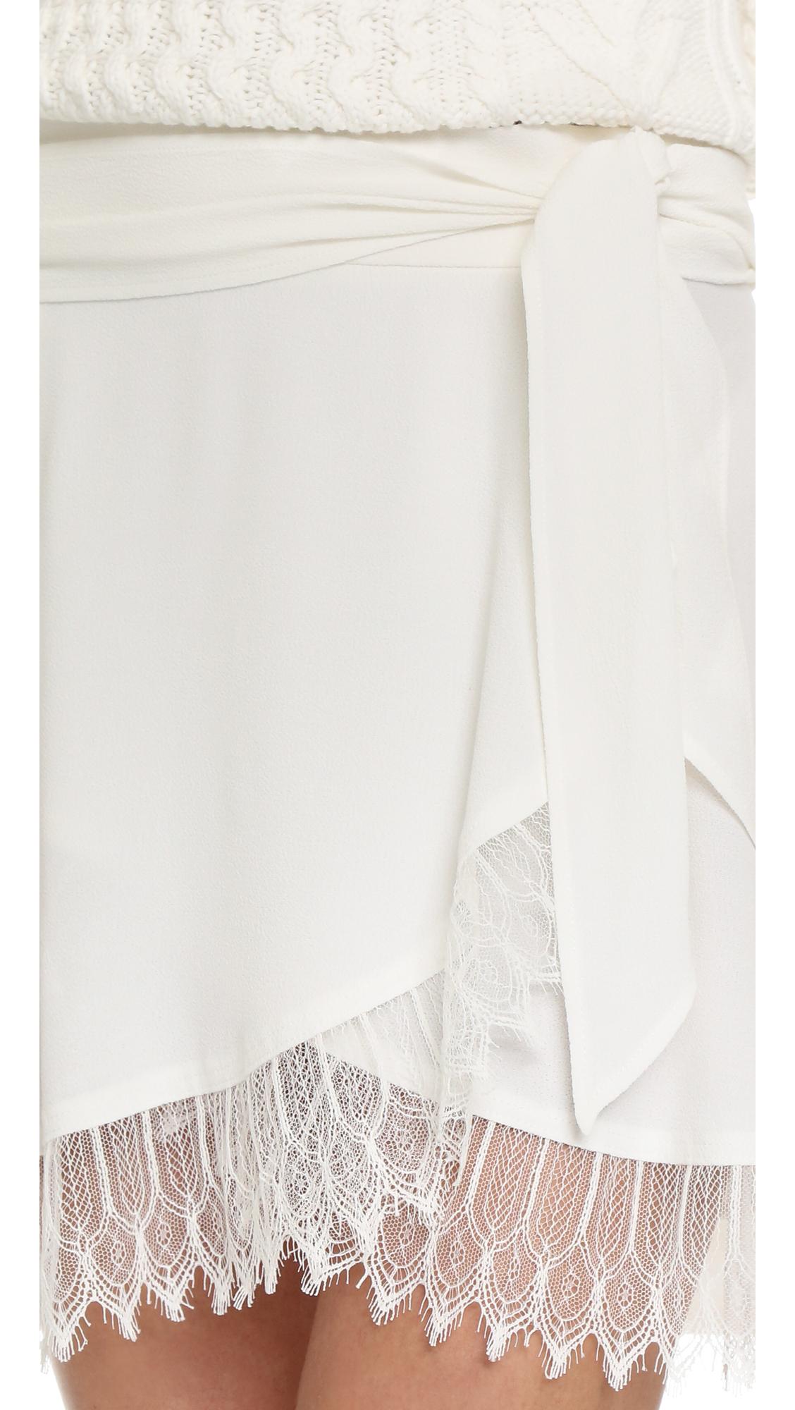 2b8916864 IRO Nicole Skirt in White - Lyst