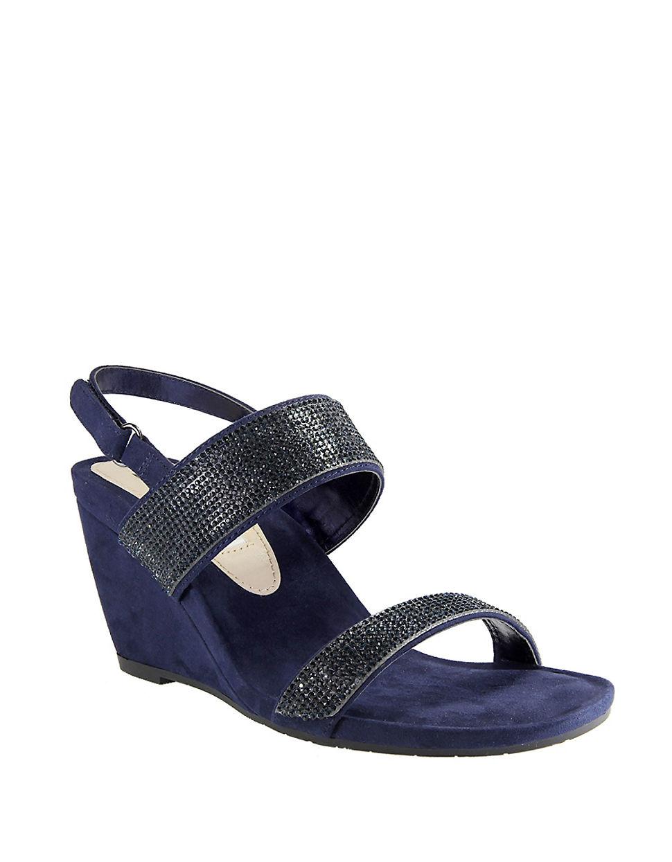 Lyst Nina Sigrid Wedge Sandals In Black