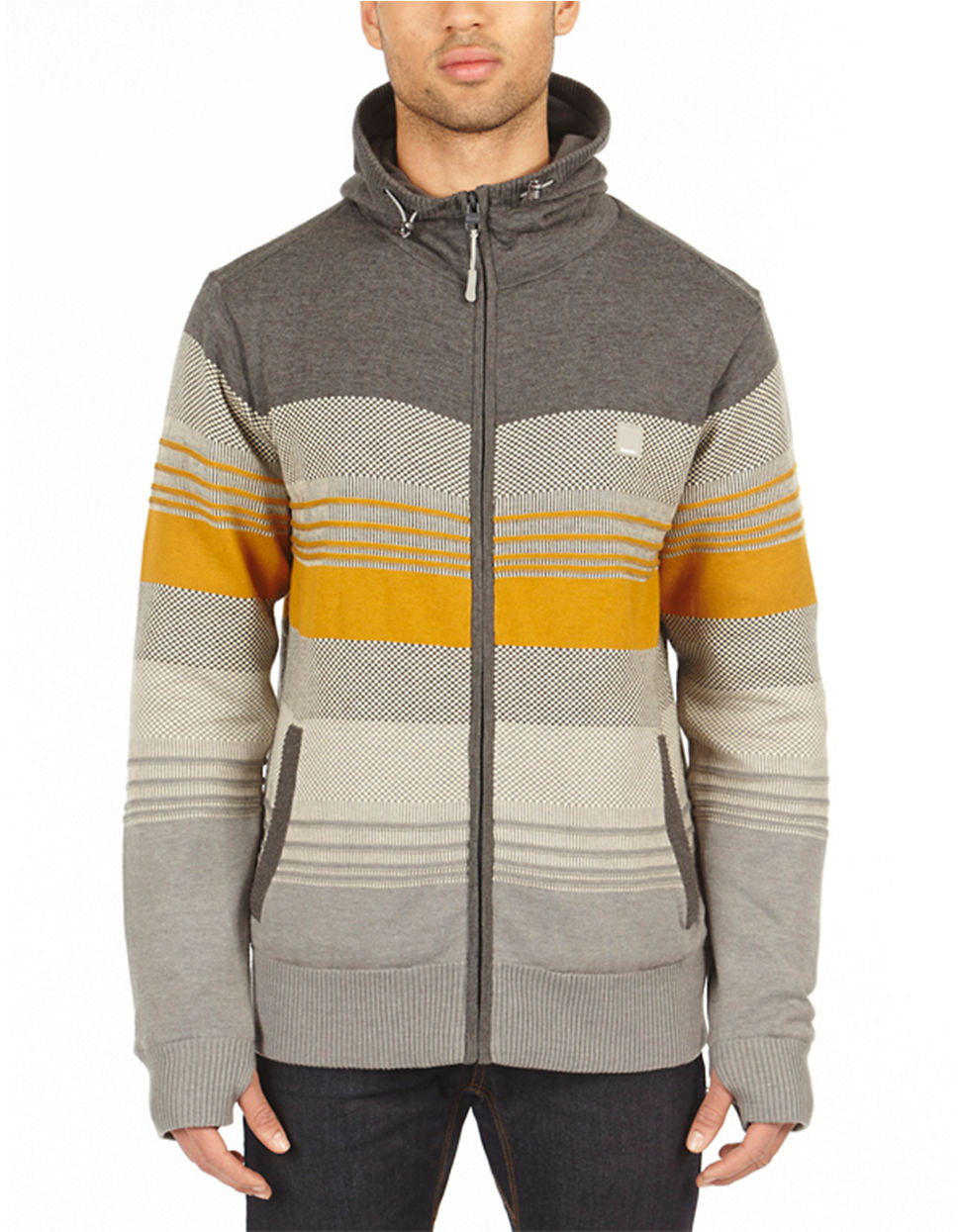 Bench Declivity Full Zip Hoodie In Gray For Men Lyst