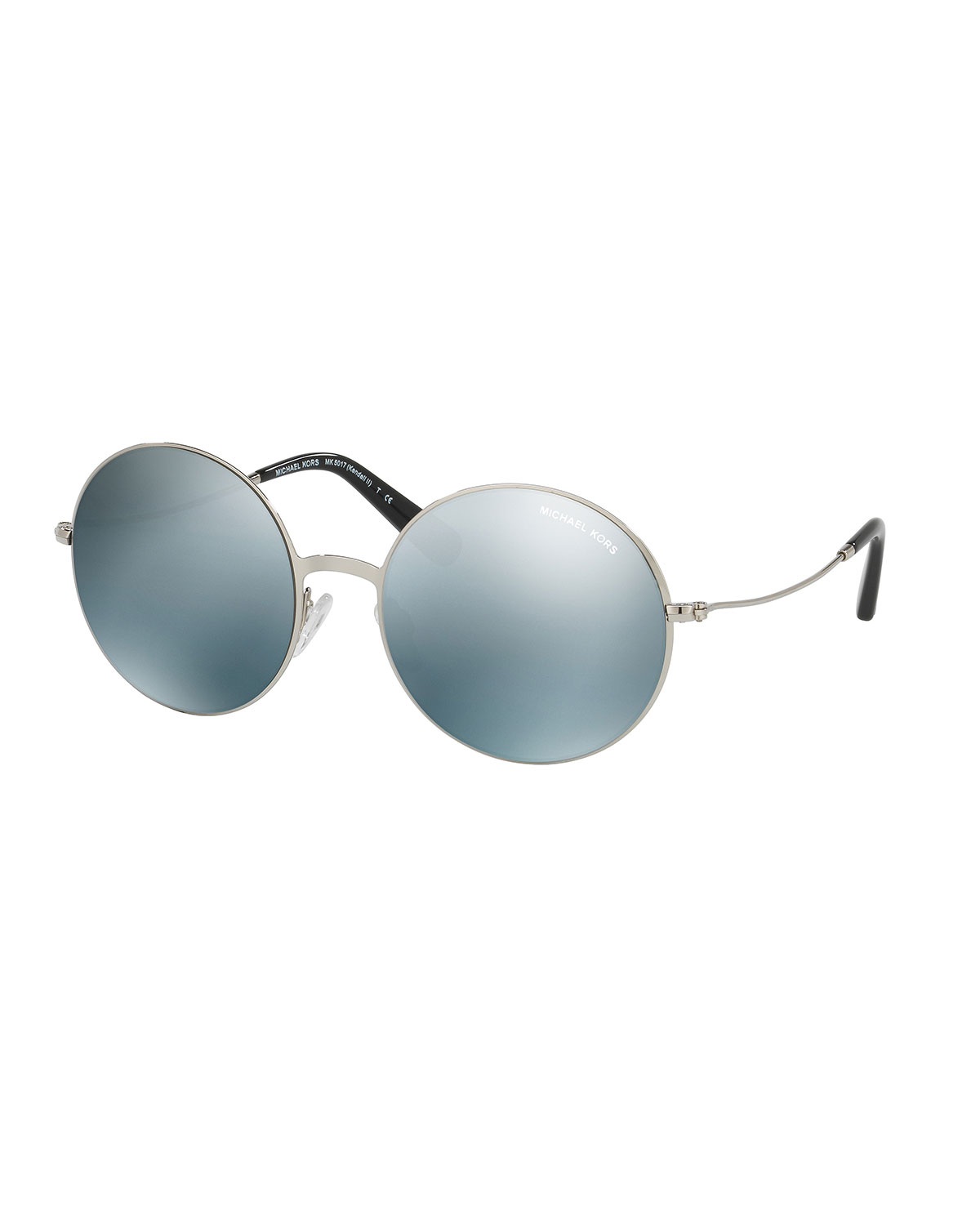 Lyst - Michael Kors Round Flash Metal Sunglasses in Blue 3d9b6d02376a