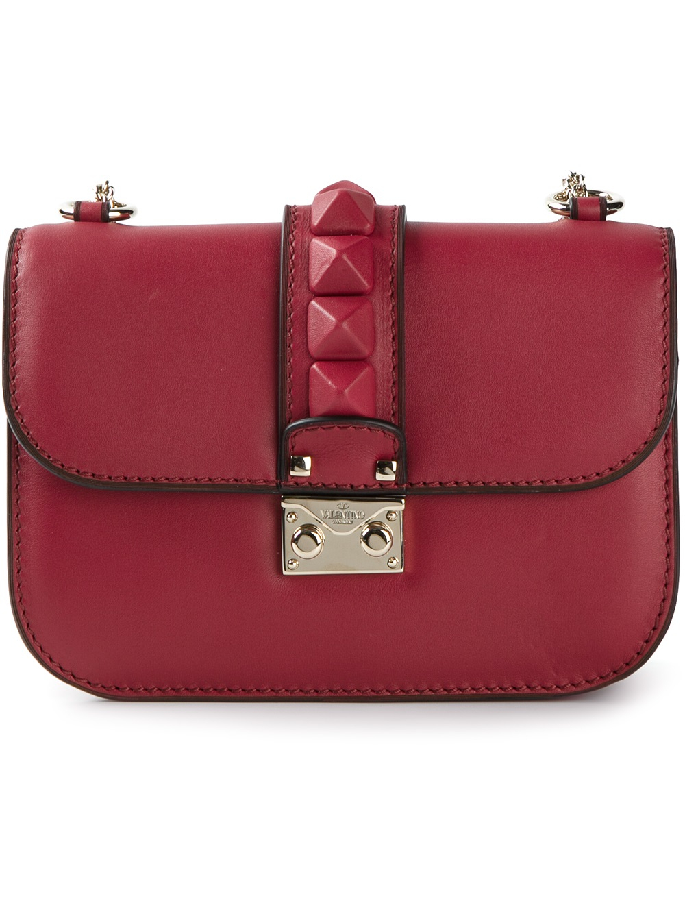 lyst valentino glam lock shoulder bag in red