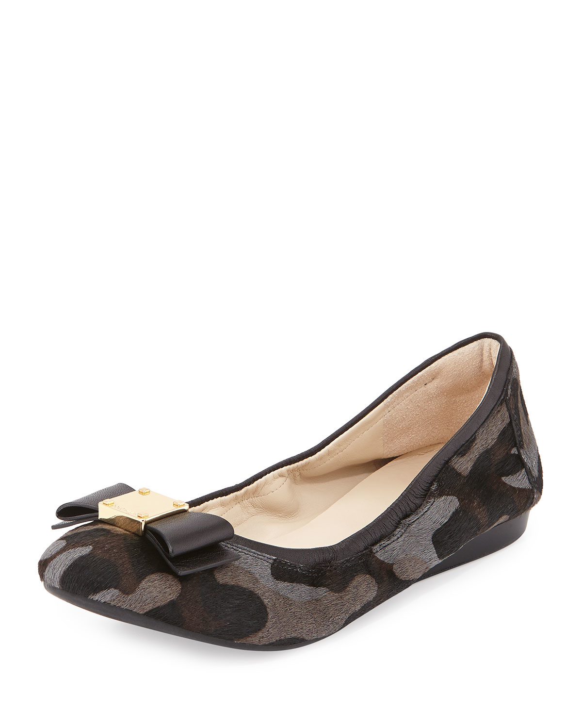 Lyst Cole Haan Tali Camouflage Calf Hair Ballet Flats In