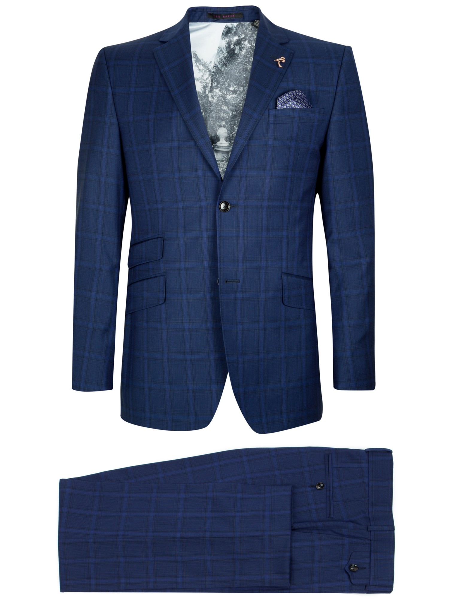 606723c8a Ted Baker Benjak Sterling Wool Check Suit Jacket in Blue for Men - Lyst