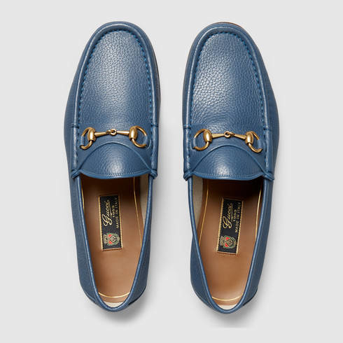 e43124fc8566c Lyst - Gucci 1953 Horsebit Leather Loafer in Blue for Men
