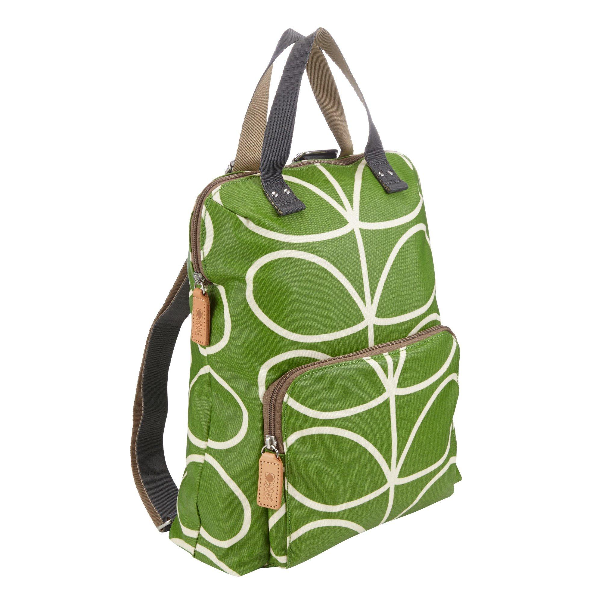 Orla Kiely Matt Stem Backpack Tote in Green - Lyst 392f94db881a3