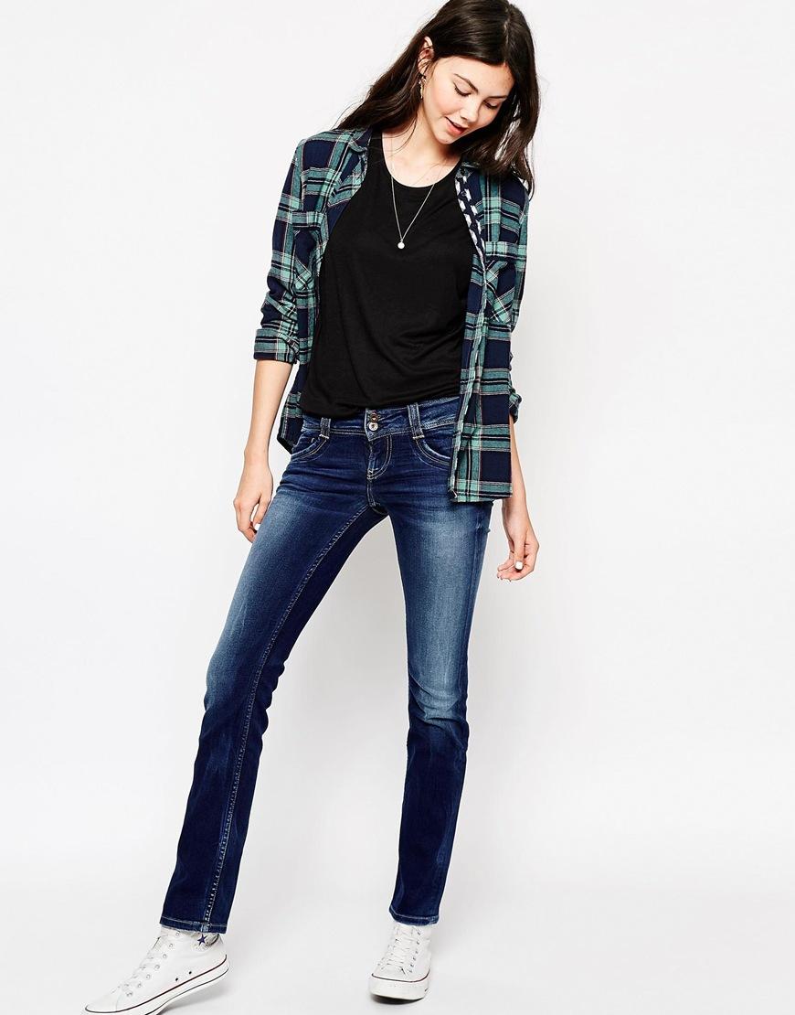 Lyst - Pepe Jeans Gen Straight Leg Jeans in Blue